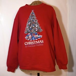 .Vintage Pluma Medium Christmas Sweatshirt